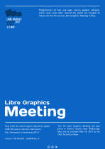 Libre Graphics Meeting Conference Poster