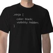 .ninja { color: black; visibility: hidden; }
